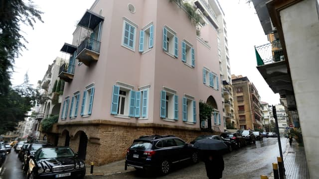"""La """"Villa Rose"""" de Carlos Ghosn à Beyrouth avant la double explosion qui a détruit une partie de la capitale libanaise mardi."""