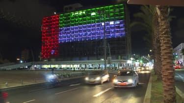 Accord entre Israël et les Émirats arabes unis: la mairie de Tel-Aviv illuminée par les couleurs des drapeaux des deux pays