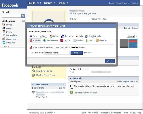 Le Mini-feed lancé par Facebook.
