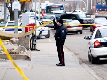 Un officier de police à Edmonton, au Canada. (Photo d'illustration)