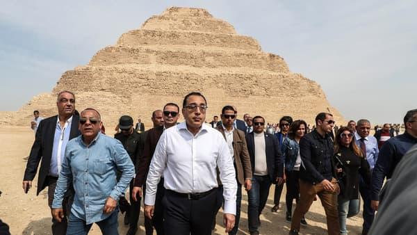 Le Premier ministe égyptien Mostafa Madbouli est venu inaugurer la réouverture du site