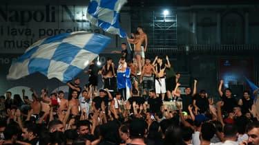 La joie des supporters du Napoli