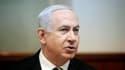 Le Premier ministre Benjamin Netanyahu. Israël a annoncé dimanche qu'elle conserverait les fonds qu'elle devait transmettre ce mois-ci à l'Autorité palestinienne, trois jours après la reconnaissance implicite d'un Etat palestinien souverain à l'Onu. /Phot
