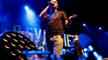 Le rappeur Oxxxymiron, ici sur scène, a organisé un concert à Moscou en soutien de son confrère Husky tout juste libéré, le 26 novembre 2018