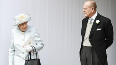 La reine Elizabeth et le prince Philip le 12 octobre 2018