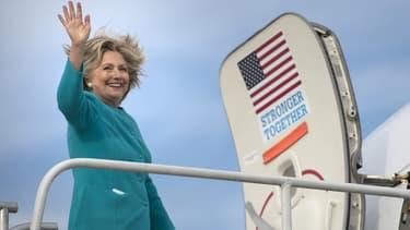 Hillary Clinton à l'aéroport de Philadelphie le 6 novembre 2016.