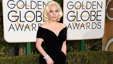 Lady Gaga aux Golden Globes en janvier 2016