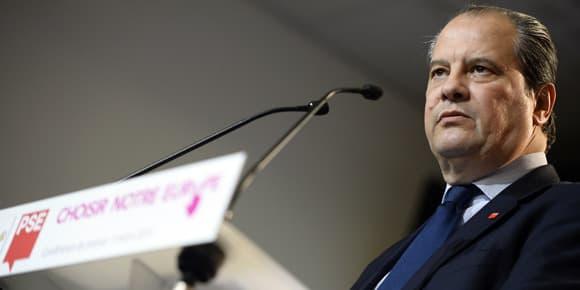 Jean-Christophe Cambadélis le 3 mars lors de la présentation des candidats PS aux élections européennes.