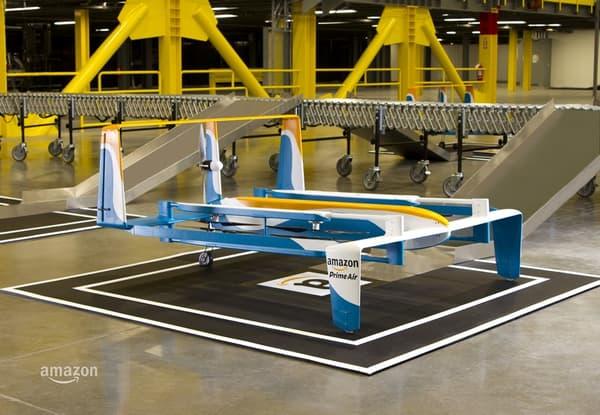 Le nouveau prototype de drone de livraison d'Amazon dévoilé ce 29 novembre.