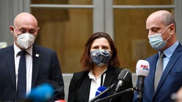 Le point presse de Bernard Laporte, Roxana Maracineanu et Jean-Michel Blanquer