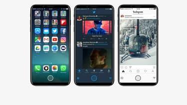 Écran sans bords, bouton home virtuel et nouveaux capteurs adaptés à la réalité augmentée, voici les probables nouveautés du futur iPhone 8.