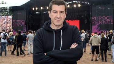 Matthieu Pigasse, ici aux Eurockéennes, est un passionné de rock.