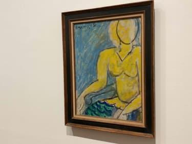 """""""Katia à la chemise jaune"""", le dernier tableau peint par Matisse est exposé au Musée des Beaux-Arts de Lyon."""