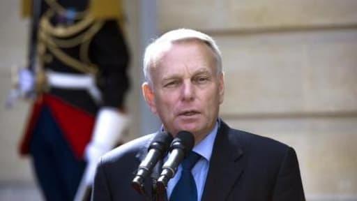 Jean-Marc Ayrault lors d'une conférence de presse mercredi.
