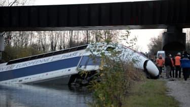 Le TGV accidenté près de Strasbourg