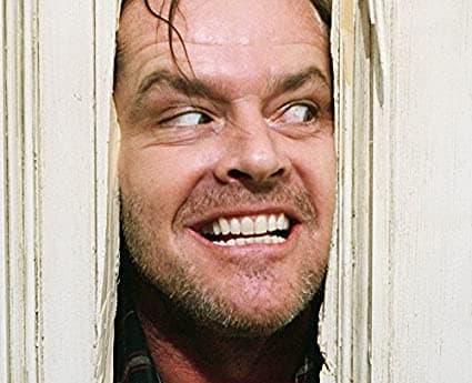 "Jack Nicholson dans ""Shining"""