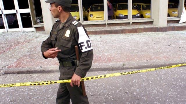 Un policier colombien - Image d'illustration
