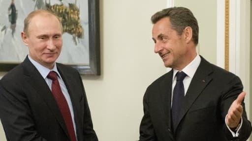 Vladimir Poutine et Nicolas Sarkozy le 14 novembre à Moscou