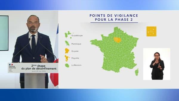 Toute l'Île-de-France est placée en zone orange.