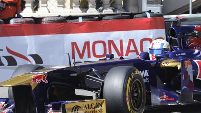 Jean-Eric Vergne sur la piste de Monaco