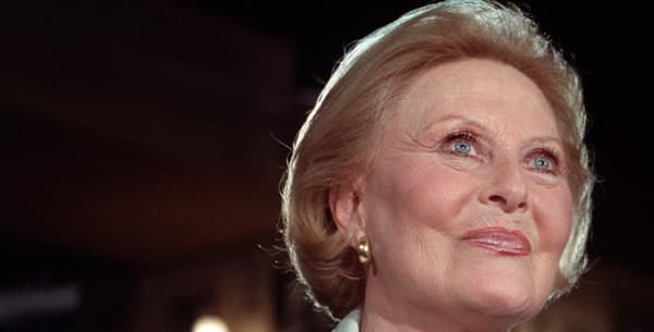 Michèle Morgan, le 1er décembre 1987