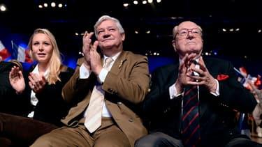 Marion Maréchal-Le Pen, Jean-Marie Le Pen et Bruno Gollnisch