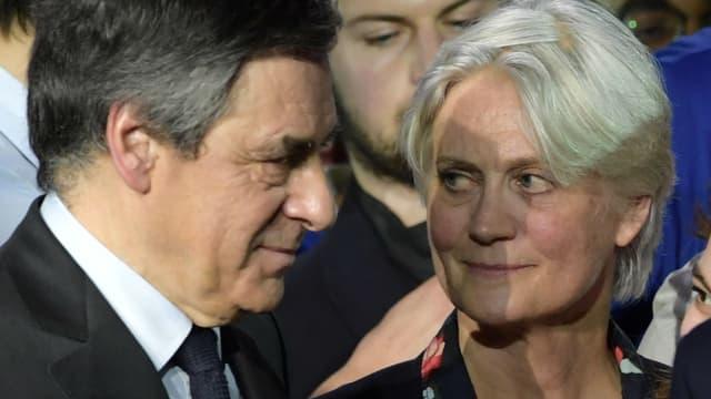 François et Penelope Fillon le 29 janvier 2017 à Paris