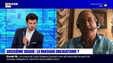 Signataire d'une tribune pour le port du masque obligatoire, Marcel Garrigou-Grandchamp médecin généraliste lyonnais, invité de Bonjour Lyon