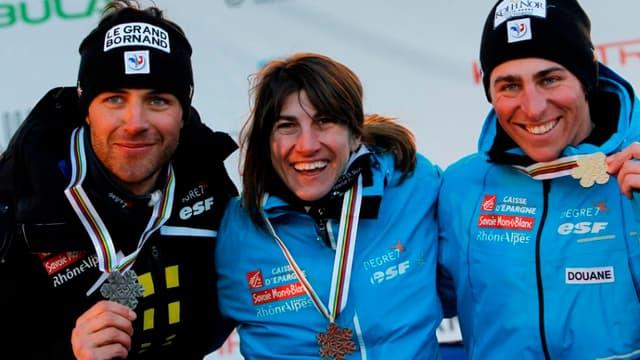 Bastien Midol, Ophélie David et Jean-Frédéric Chapuis