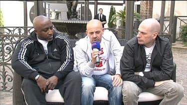 Kephren, Kheops et Akhenaton, les trois chanteurs du groupe IAM interviewés par BFMTV