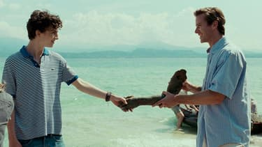 "Timothée Chalamet et Armie Hammer dans ""Call me by your name""."