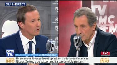Nicolas Dupont-Aignan face à Jean-Jacques Bourdin en direct