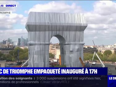 L'arc de Triomphe empaqueté sera inauguré ce jeudi à 17h