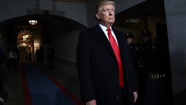 Donald Trump, le 20 janvier 2017, jour de son investiture.