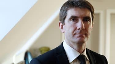 Stéphane Gatignon, maire de Sevran, ici en janvier 2014 dans son bureau.