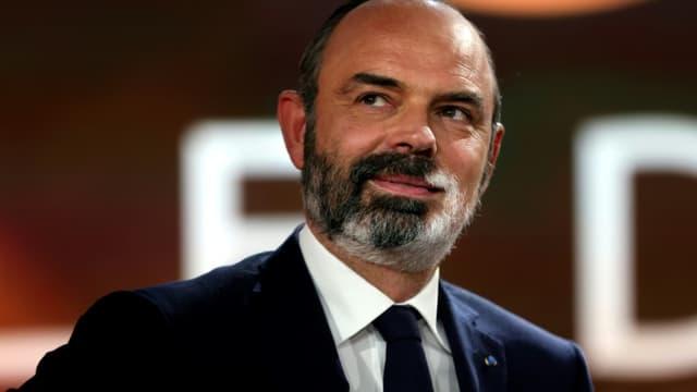 L'ancien Premier ministre et maire du Havre Edouard Philippe sur le plateau de la chaîne France 2, le 4 avril 2021 à Paris