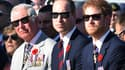 Le prince Charles, prince de Galles, le duc de Cambridge et le prince Harry réunis lors du Centenaire de la bataille de la crête de Valmy, le 9 avril 2017.
