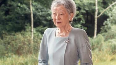 L'ancienne impératrice du Japon Michiko