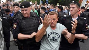 L'opposant Alexeï Navalny arrêté lors de manifestations le 12 juin 2019