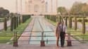 Le couple Macron devant le Taj Mahal, le 11 mars 2018
