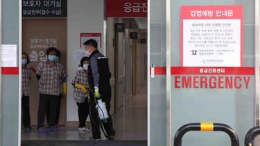L'entrée des urgences d'un hôpital à Incheon, le 21 janvier 2020, en Corée du Sud (PHOTO D'ILLUSTATION)