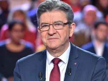 Jean-Luc Mélenchon sur le plateau de L'Emission politique.