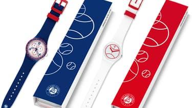 Le modèle Roland-Garros édité par la marque Swatch à l'occasion des internationaux français de tennis en 2015
