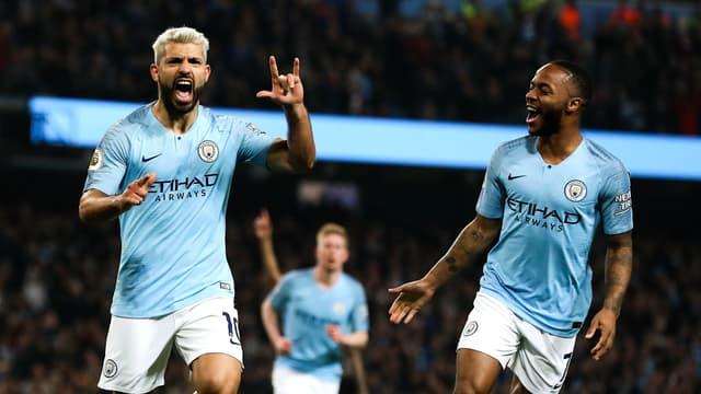 Aguero et Sterling - Man. City