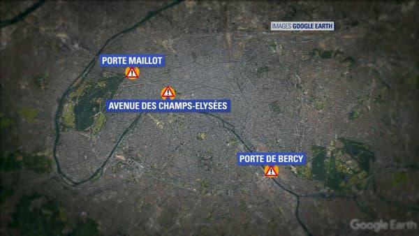 Les rassemblements à Paris