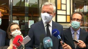 Le ministre de l'Économie et des Finances, Bruno Le Maire, à la veille de la réouverture des terrasses des bars et des restaurants, le 18 mai 2021.