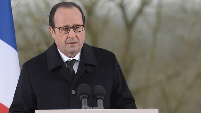 Déjà le 17 février à Sarre-Union, François Hollande condamnait d'autres dégradations de sépultures.