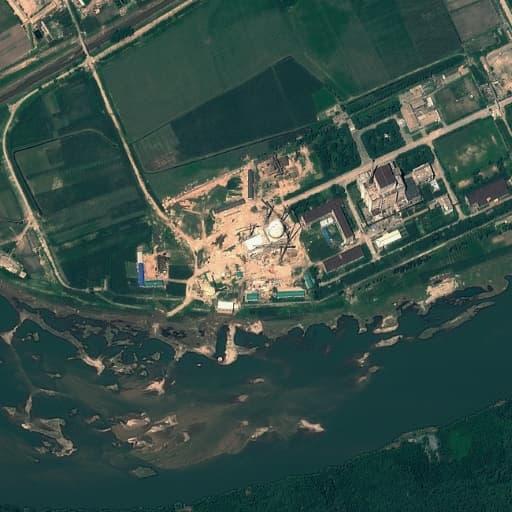 Image satellite du centre nucléaire de Yongbyon, en Corée du Nord, le 22 août 2012