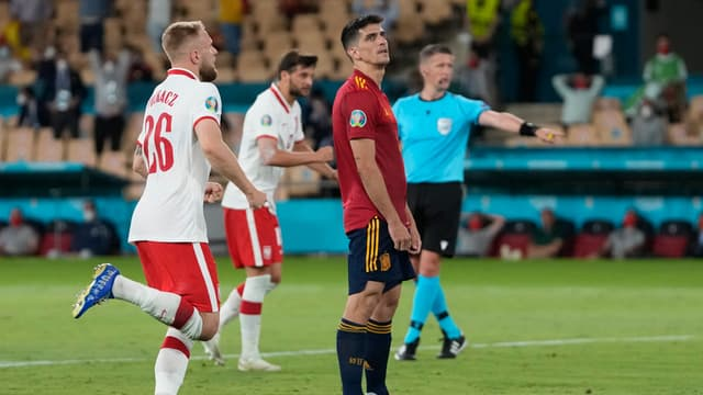 Moreno lors d'Espagne-Pologne à l'Euro 2021