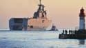 Le Vladivostok, premier des deux Mistral devant être livrés à la Russie, à Saint-Nazaire, le 5 mars 2014.